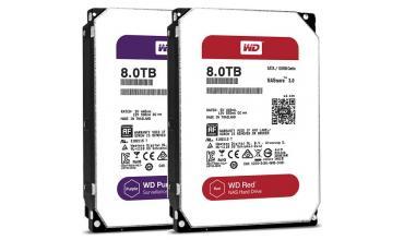 8 терабайт WD Red и WD Purple